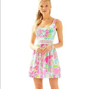 Lilly Pulitzer Dresses - Lilly Pulitzer Rosemarie Printed Scoop Neck Dress